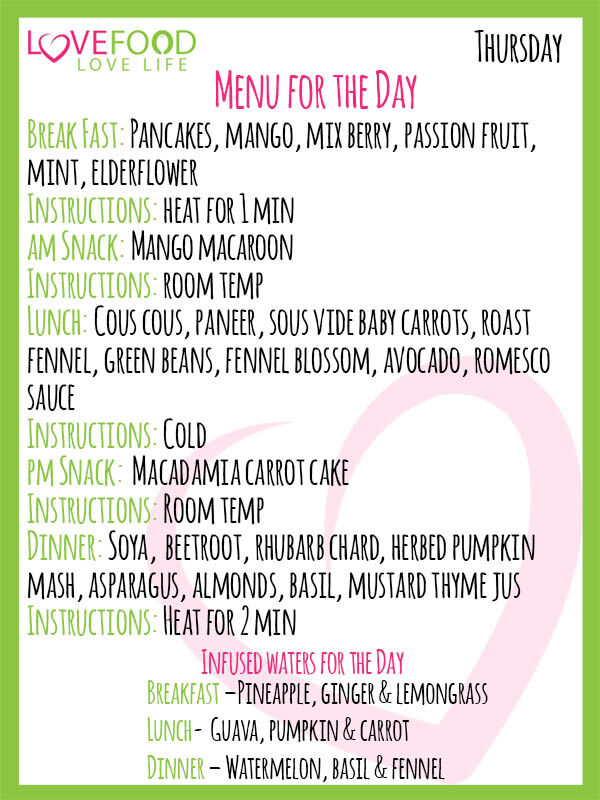 Love Food Go Green Daily Updated Menu