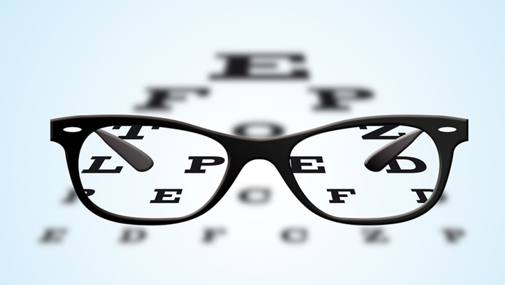 Eyechart with glasses