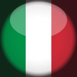 italy flag 3d round icon 256