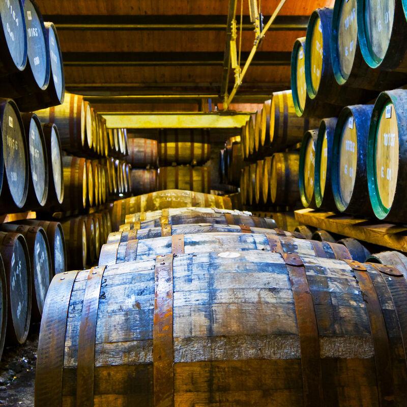 Vorbelegte Whiskyfässer