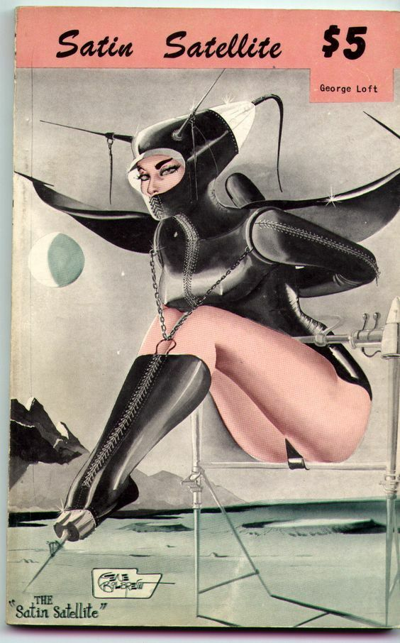 This is the  graphic cover of a 50's erotic sci-fi pulp novel
