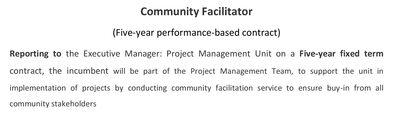 Community Facilitator