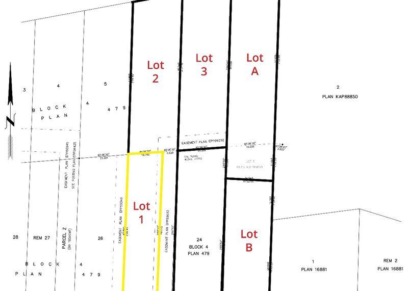 Lot Plan, sml   Lot 1 595 Vancouver Ave