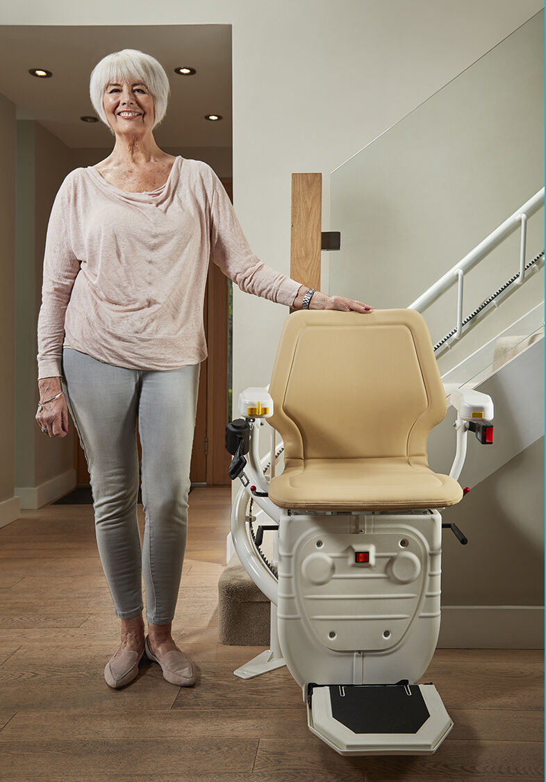 Bespoke Stairlift Infinity Curved Lift web