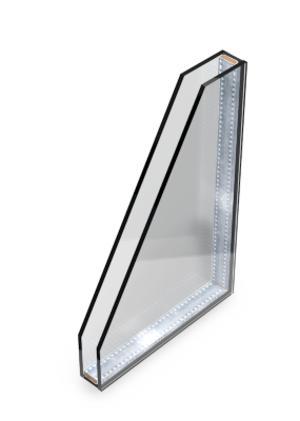 Standard double glass windowLow-E glazing