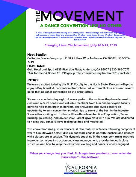 The Movement Info sheet 1