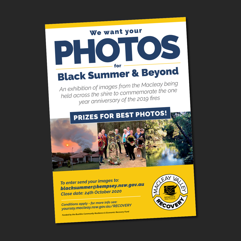 Kempsey Shire Councils - Macleay Valley RecoveryBlack Summer & Beyond Photography Competition.