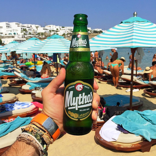 Greece Grecia Mykonos Mikonos Mythos Beer Cerveza Nammos Beach Club El Brunch Blog