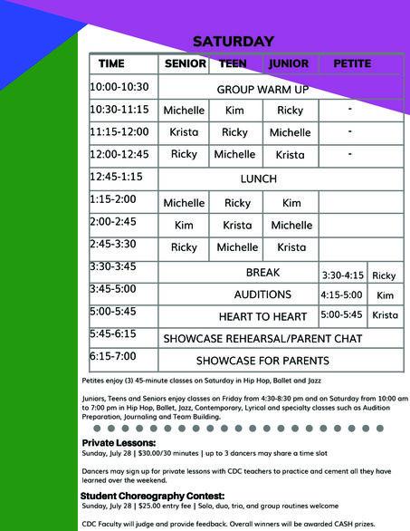 The Movement Info sheet 3