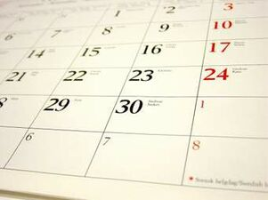 image of a monthly calendar