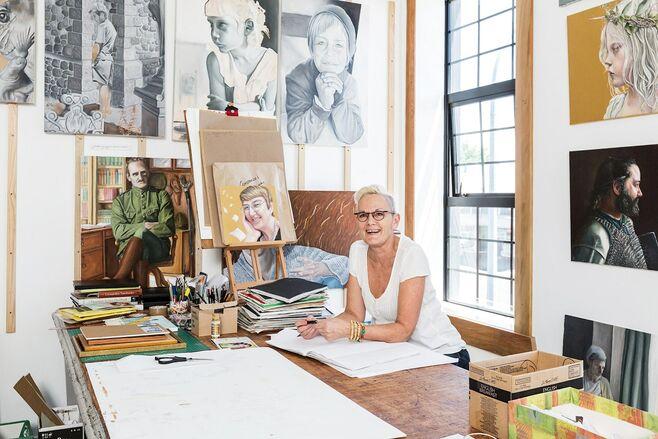 Jo Jo in her studio at Fenton street 2019 2