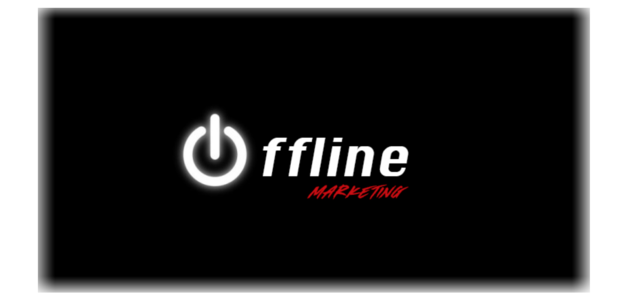 Offline marketing graphic in black with white lettering from peanubutter