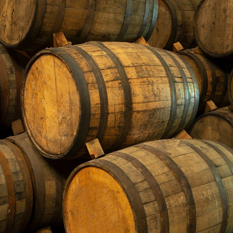 Used and freshly emptied Tequila Casks