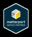Logo for Matterport's service partner program
