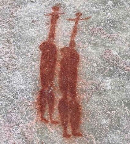 San bushmen rockart in the Cederberg