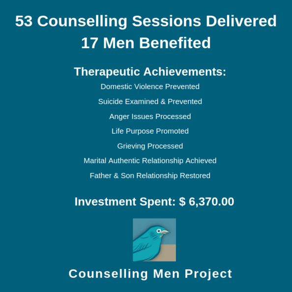 Counselling Men Project Statistics