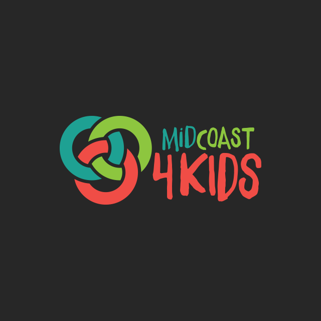 Brand identity for MidCoast4Kids, a great innitiative based on the Mid North Coast of NSW..