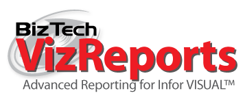 BizTech VizReports advanced reporting for Infor VISUAL ERP