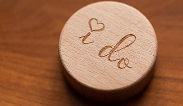 """I do image - Placard engraved with """"I do"""""""