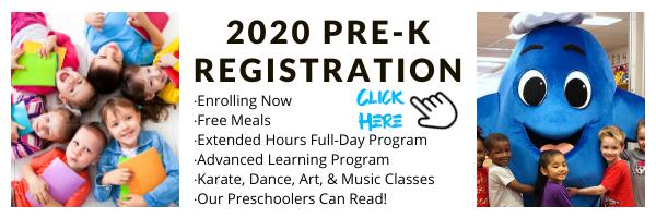 2020 Pre K Registration Email Banner