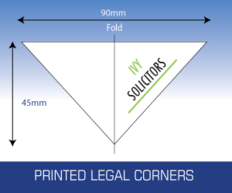 Personalised printed legal corners