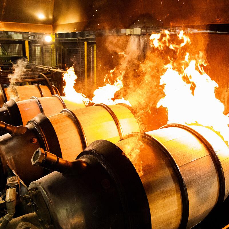 Charing von Bourbonfässern