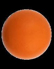Orange ball dog toy.