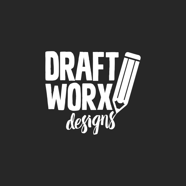 Brand identity for Draft Worx Designs, a building design firm based in Port Macquarie on the Mid North Coast of NSW.