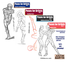 PoseMuse - Pose Reference - Books by Artist Justin Martin