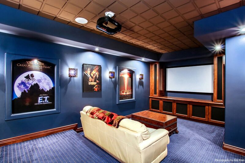 Home Theater Room Kirk Krein Photography 1