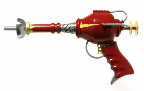 This is a perfect Space Age vintage childs ray gun