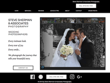 Screen shot of the wedding page of the Steve Sherman Photography website.