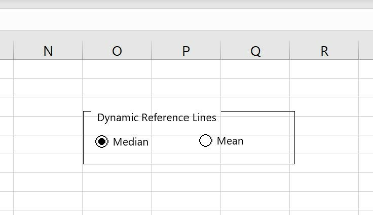 How to create a scatterplot with dynamic reference lines in Excel 4