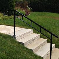 Stone steps with a railing