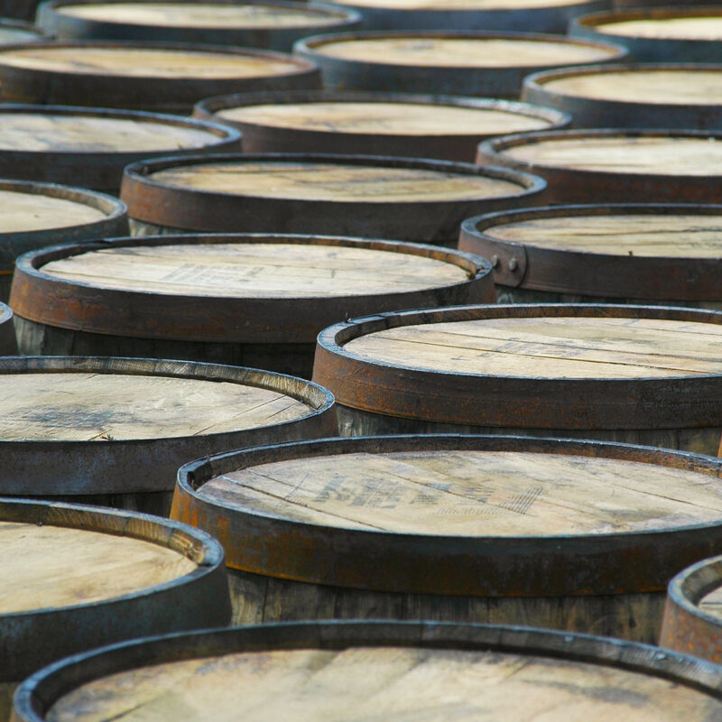 Used and freshly emptied Triple Sec Casks