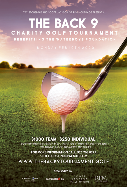 the back 9 golf tournament flyer