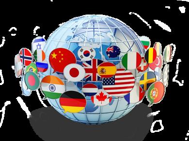 Translation Globe Language Flags