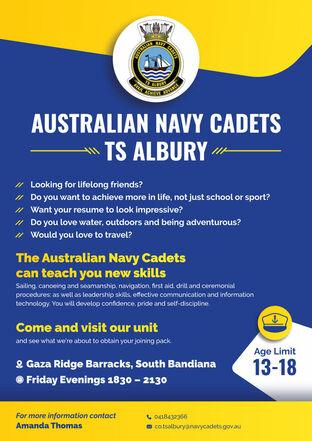 NAVY CADETS albury flyer