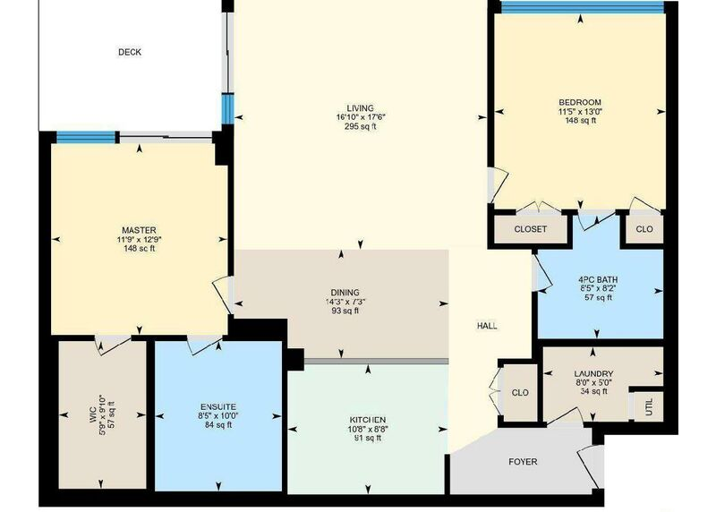 Floor Plan Cropped   503 160 Lakeshore Dr