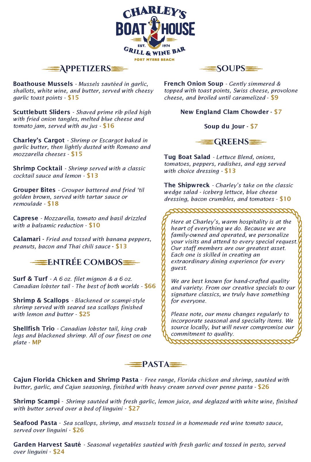 Charley's Dinner Menu 122020 Page 1