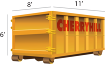 15 Yard dumpster rental - Cherry Hill Construction Inc.