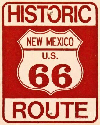 This is a New Mexico route 66 highway sign