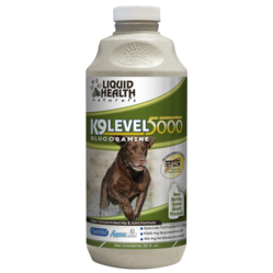 Liquid Health K9Level500 Glucosamin for Dogs.