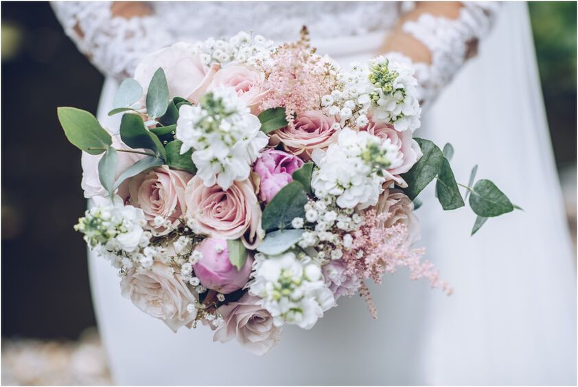 Bridal bouquet at the King Arthur Hotel