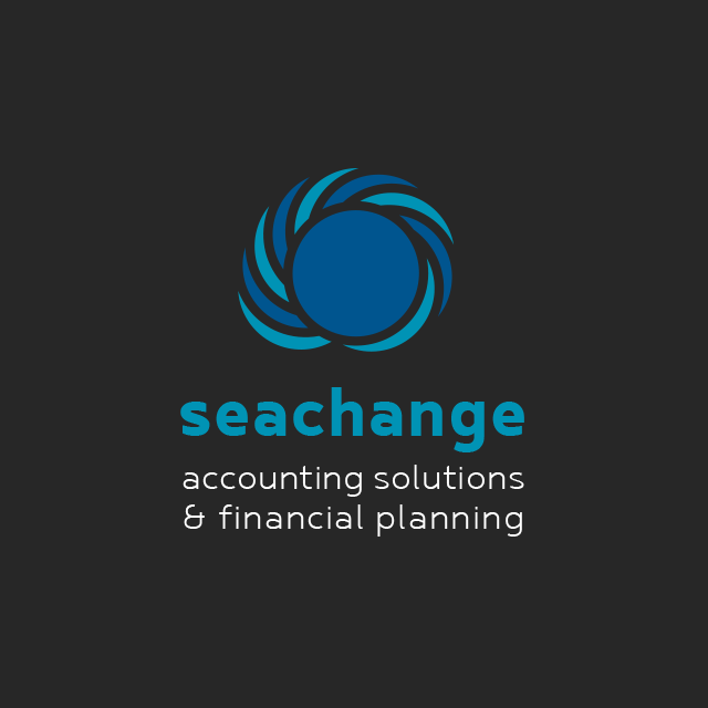 Brand design for Seachange Accounting Solutions & Financial Planning in Port Macquarie.