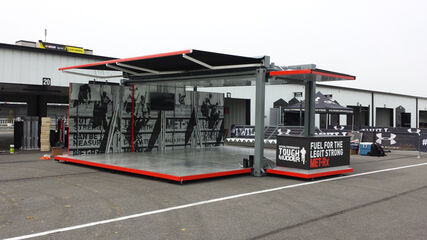 Experiential shipping container converted to be used for event activations.  You can rent this or created a fully managed program with it.