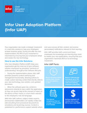 Infor User Adoption Platform - Infor software training for your employees