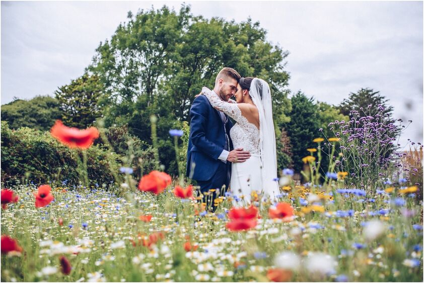 Wedding in the flower garden at the King Arthur Hotel