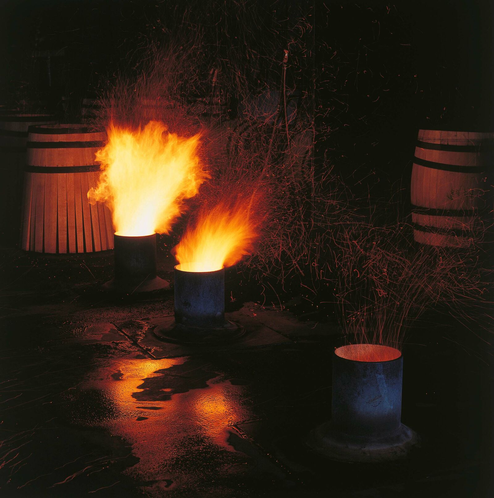 Toasting-Feuer