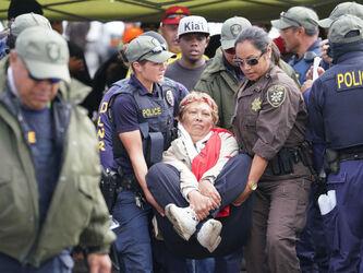 TMT Kupuna Arrests on Mauna Kea Access Road6 640x480